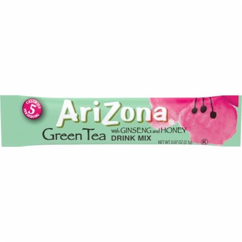 AriZona Green Tea with Ginseng & Honey Powdered Drink Mix Sticks Perspective: top