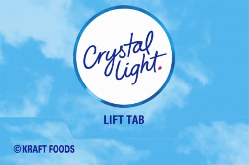Crystal Light Raspberry Ice On-The-Go Drink Mix Packets Perspective: top