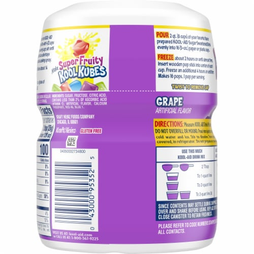 Kool-Aid Grape Powdered Drink Mix Perspective: top