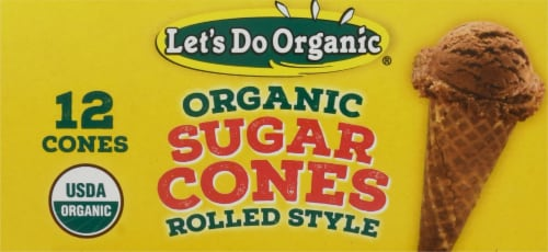Let's Do Organic® Organic Rolled Style Sugar Cones Perspective: top