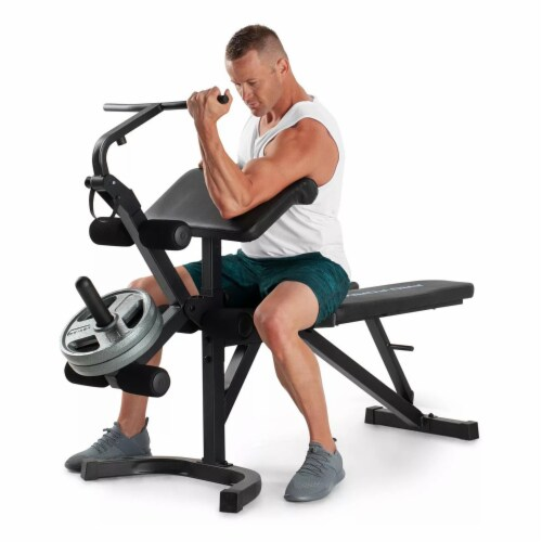 ProForm Sport Olympic Bench XT Home Gym for Weight Training with Steel Frame Perspective: top