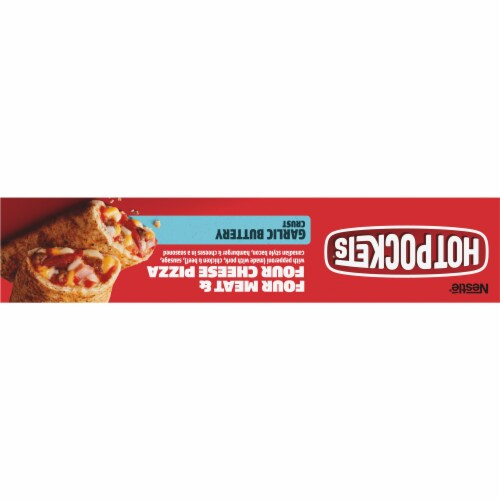 Hot Pockets® Four Meat & Four Cheese Pizza Frozen Snacks Perspective: top