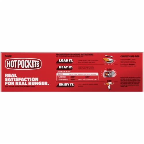 Hot Pockets® Italian Style Meatballs & Mozzarella Garlic Buttery Crust Frozen Snacks Perspective: top