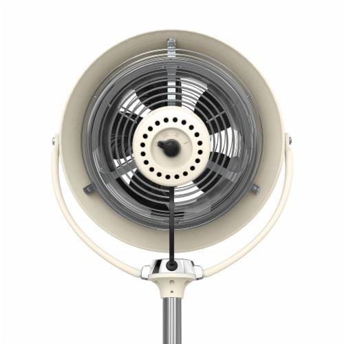 Vornado VFAN Sr. Vintage Pedestal Fan - Vintage White Perspective: top