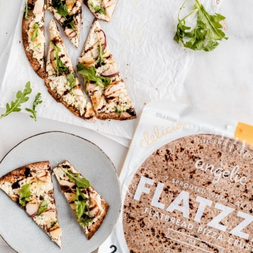 Angelic Bakehouse Flatzza Sprouted Whole Grain Thin Pizza Crusts Perspective: top