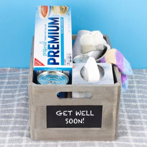 Premium Original Sea Salt Saltine Crackers Perspective: top
