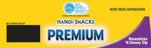 Handi-Snacks Premium Breadsticks 'n Cheese Dip Snack Packs Perspective: top