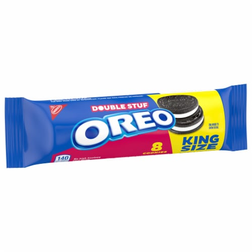 Oreo Double Stuf Chocolate Sandwich Cookies King Size Perspective: top