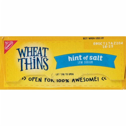 Wheat Thins Hint of Salt Low Sodium Crackers Perspective: top
