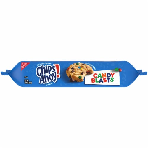 Chips Ahoy! Candy Blasts Chocolate Chip Cookies Perspective: top
