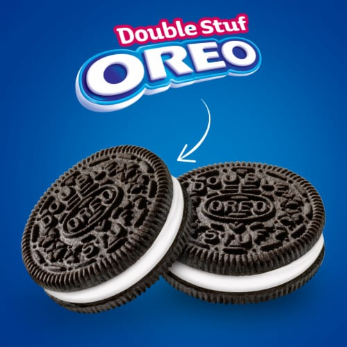 Oreo Double Stuf Chocolate Sandwich Cookies Family Size Perspective: top