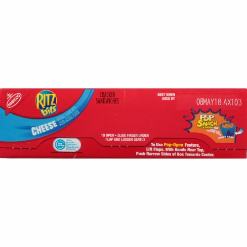 Ritz Bits Cheese Cracker Sandwiches Perspective: top