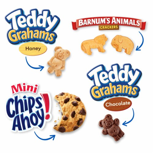 Nabisco Fun Shapes! Mini Cookies & Crackers Variety Pack Perspective: top
