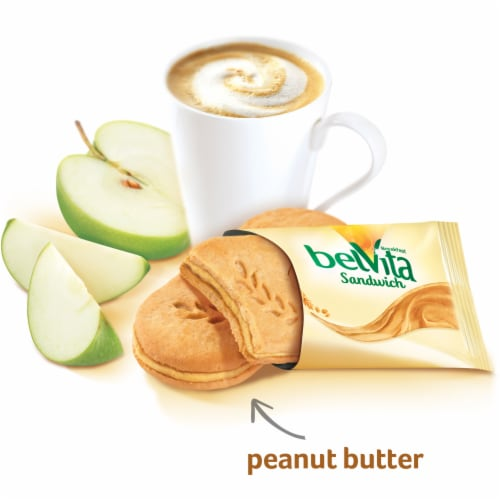 belVita Sandwich Peanut Butter Breakfast Biscuits Perspective: top