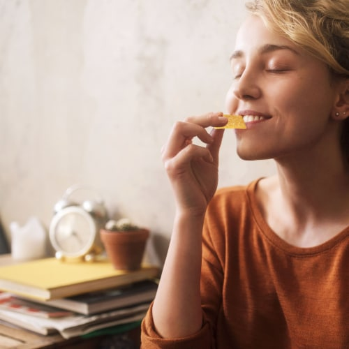 Good Thins Sea Salt Corn Snack Crackers Perspective: top