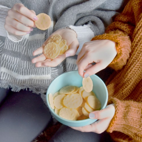 Good Thins Three Cheese Gluten Free Crackers Perspective: top