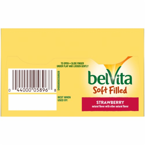belVita Soft Filled Strawberry Baked Biscuits Perspective: top