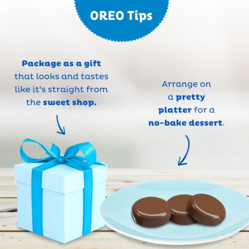 Oreo Fudge Covered Mint Creme Sandwich Cookies Perspective: top