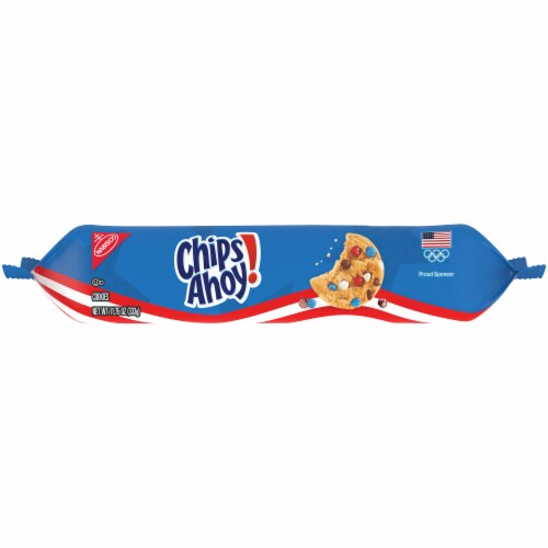 Chips Ahoy! Red White & Blue Candy Chips Chocolate Chip Cookies Perspective: top