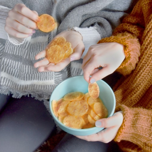 Good Thins Gluten Free Barbecue Flavored Sweet Potato and Rice Snacks Perspective: top