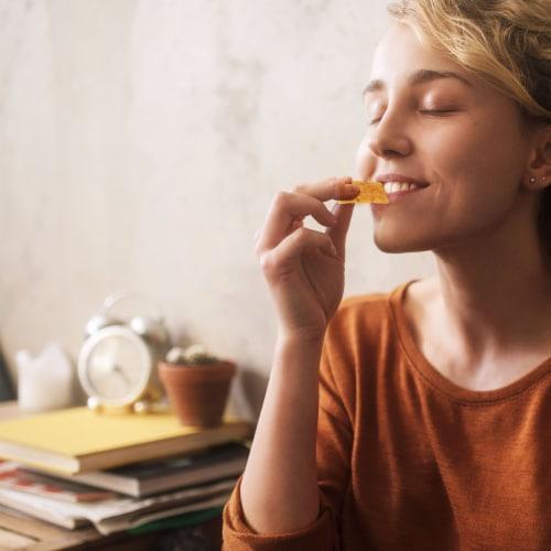Good Thins Gluten Free Garden Veggie Crackers Perspective: top