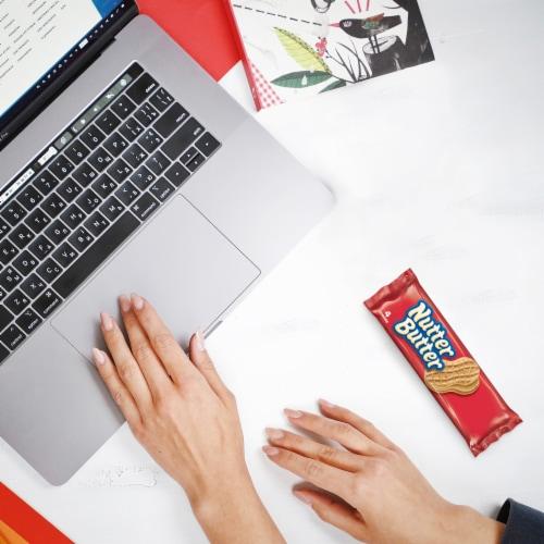 Nutter Butter Peanut Butter Sandwich Cookies Multi-Pack Perspective: top