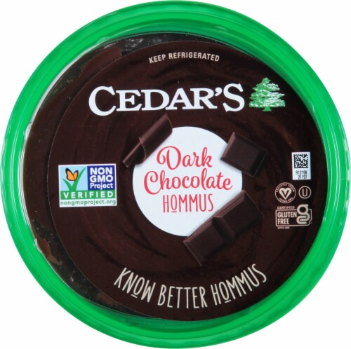 Cedar's Dark Chocolate Hommus Perspective: top