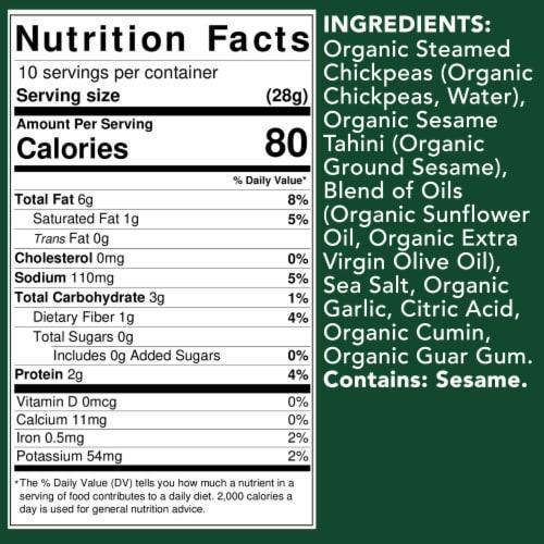 Cedar's Organic Original Hommus Perspective: top