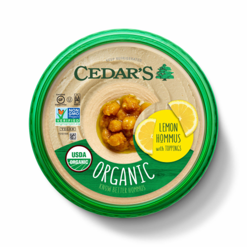 Cedar's Organic Lemon Hommus Perspective: top