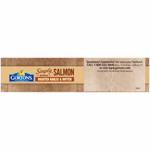 Gorton's Simply Bake Roasted Garlic & Butter Salmon Fillets Perspective: top