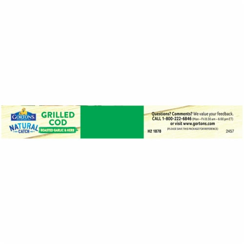 Gorton's Natural Catch Roasted Garlic & Herb Grilled Cod Fillets Perspective: top