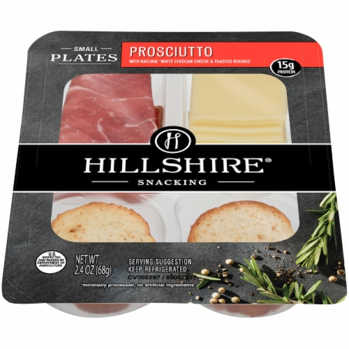 Hillshire Farm® Prosciutto with White Cheddar Cheese Snacking Small Plates Perspective: top