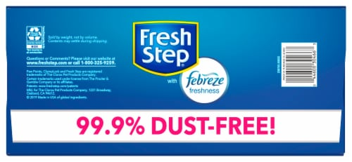 Fresh Step Odor Shield with Febreze Freshness Clumping Cat Litter Perspective: top