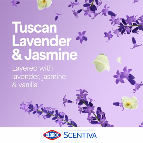 Clorox Scentiva Tuscan Lavender & Jasmine Disinfecting Wet Mopping Cloths Perspective: top