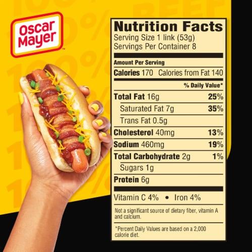 Oscar Mayer™ Bun-Length Angus Beef Uncured Franks Perspective: top