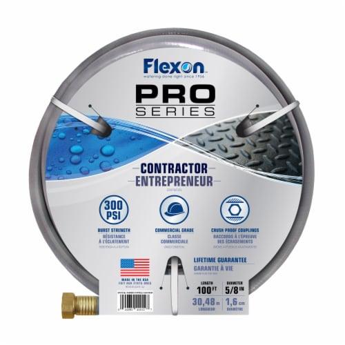 Flexon 5/8 x 100ft Contractor Grade Garden Hose Perspective: top