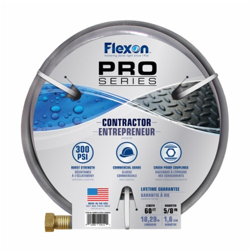 """Flexon 5/8"""" x 60ft Contractor Grade Garden Hose Perspective: top"""