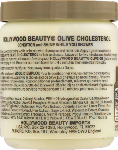 Hollywood Beauty Olive Cholesterol Deep Conditioning Creme for Damaged Hair Perspective: top