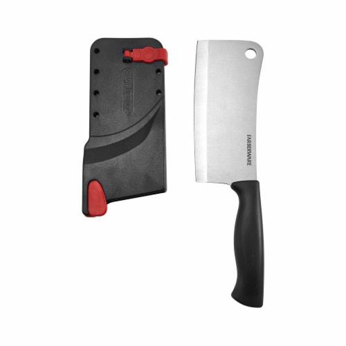 Farberware Edgekeeper Cleaver Knife with Self-Sharpening Sleeve - Black Perspective: top