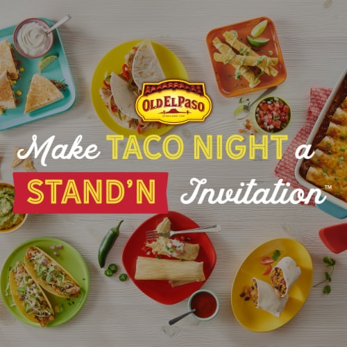 Old El Paso™ Hard & Soft Taco Dinner Kits Family Size Perspective: top