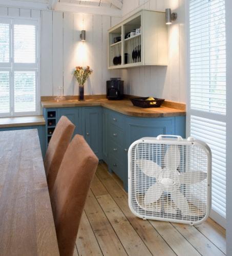 Lasko Box Fan - White Perspective: top