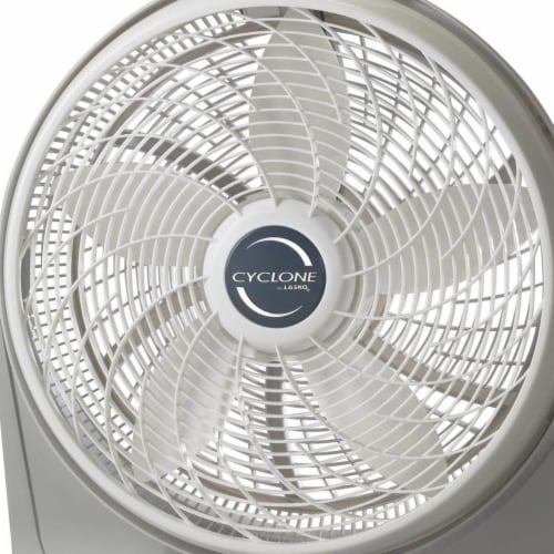 Lasko Cyclone Pivoting Floor Fan - White/Gray Perspective: top