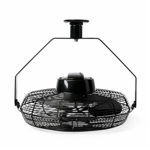 """Air King 18"""" 1/16 HP Motor 3 Speed Non-Oscillating Enclosed Ceiling Mount Fan Perspective: top"""