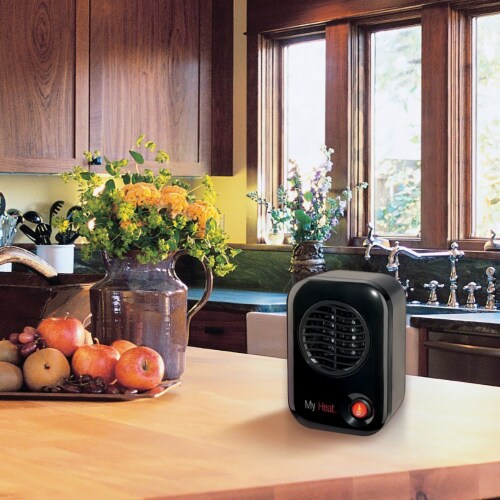 Lasko MyHeat Portable Personal Electric 200W Ceramic Space Heater - Black Perspective: top