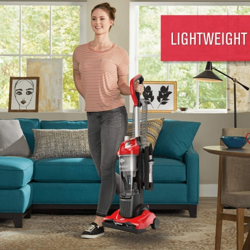 Dirt Devil Endura Reach Compact Upright Vacuum Cleaner - Red Perspective: top