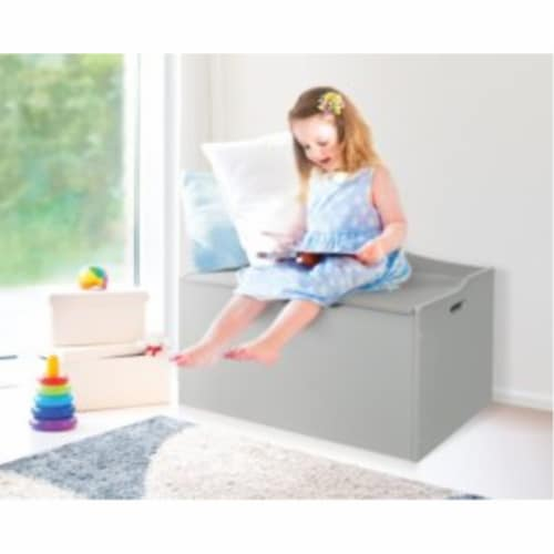 Bench Top Toy Box - Gray Perspective: top