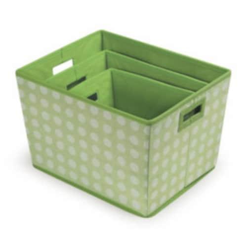 Trapezoid Basket Set - Sage Polka Dot - 3/set Perspective: top