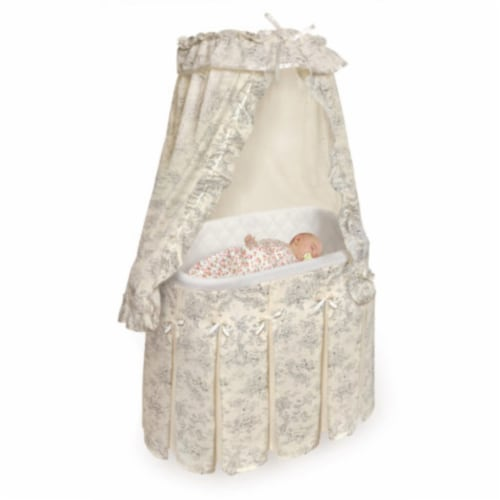 Majesty Bassinet - Black Toile Perspective: top