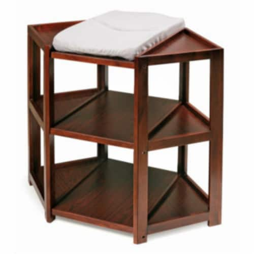 Diaper Corner Changing Table - Cherry Perspective: top