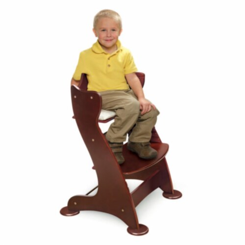 Embassy Wood High Chair with Tray - Cherry Perspective: top